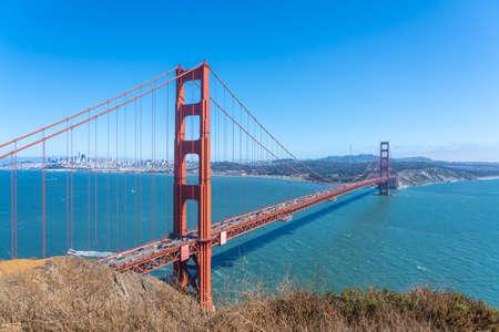 Schöne Aussicht auf die Golden Gate Bridge, San Francisco, Kalifornien Standard-Bild