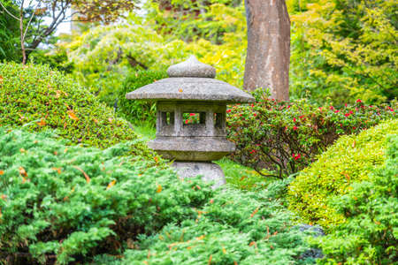 Lantern in Japanese Tea Garden in the Golden Gate Park, San Francisco, California