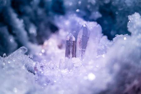 Beautiful purple crystal. Archivio Fotografico