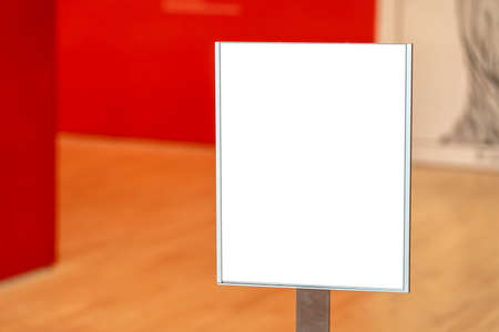 White square mockup inside a museum 写真素材
