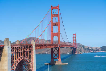 Beautiful Golden Gate bridge in San Francisco.