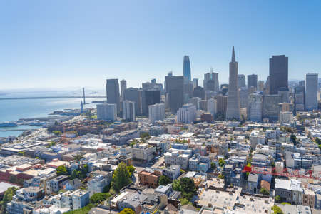 San Francisco skyline aerial view. 写真素材