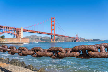 Beautiful Golden Gate bridge in San Francisco, california, USA.