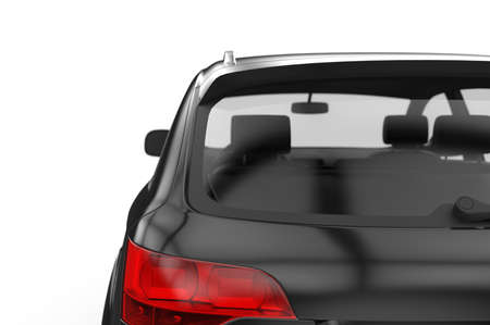 Back window car, mockup, 3D illustration