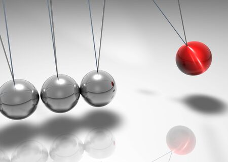 organized: Newtons cradle Stock Photo