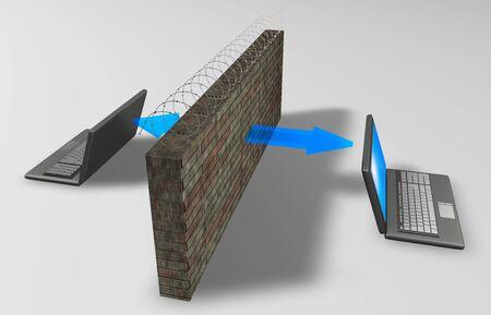 barricades:  Through the barricades. Comunications concept