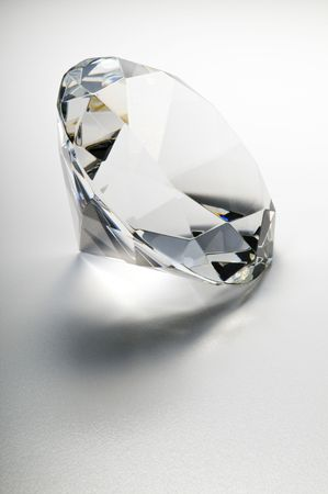 Close-up diamond on a white background