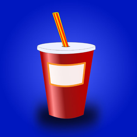drink cup with copyspace  Illustration