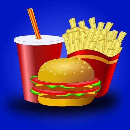 eating fast food: Comida r�pida