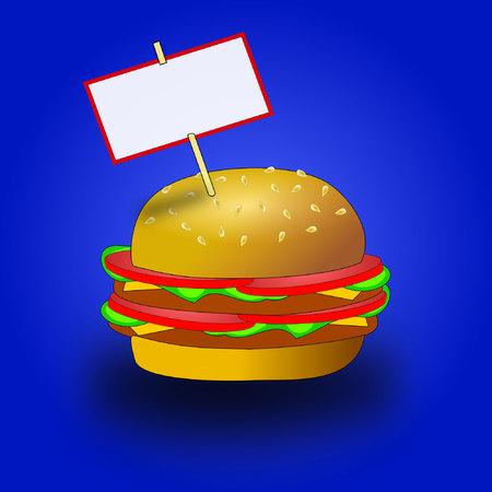 bread soda:   hamburger with copyspace
