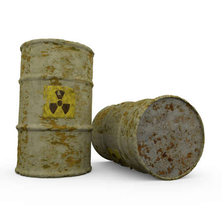 Radioactive barrels Stock Photo - 9552853