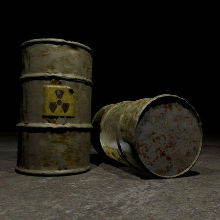 barrel radioactive waste: Radioactive barrels