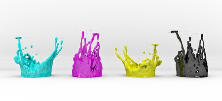 color image creativity: RGB concept on white background, 3D render Stock Photo