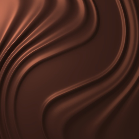 chocolate swirl: brown background  Stock Photo