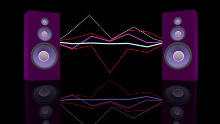 sound system: Music concept  Stock Photo