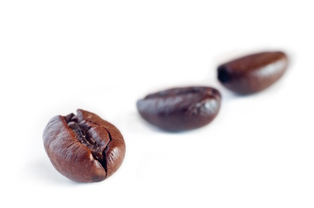 coffee grains: Coffee beans on a white background