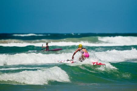 GOLD COAST, SURFERS PARADISE, QLD,  AUSTRALIA - Feb. 2013: Maddy Dunn (17) race