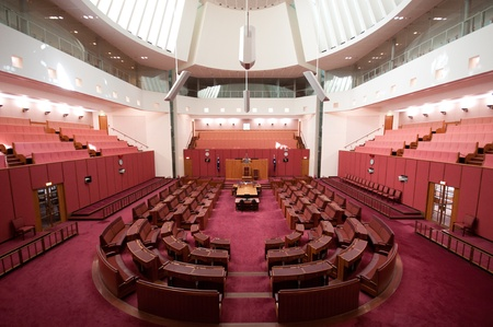 the senate:  Inside Senate, the upper house of the bicameral Parliament of Australia