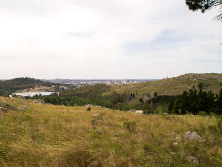 """View from """"Monumento a Don Quijote"""" Tandil, Buenos Aires, Argenina."""