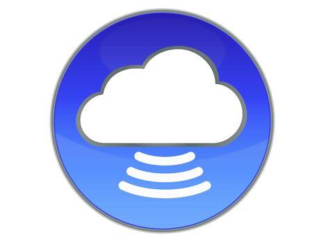 Cloud Button Vector