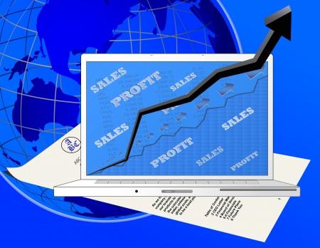 profitability: A Laptop Showing Profitability