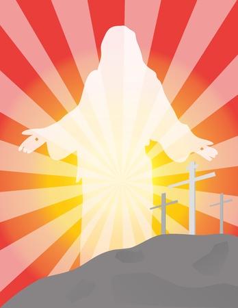 calvary: Easter Illustration