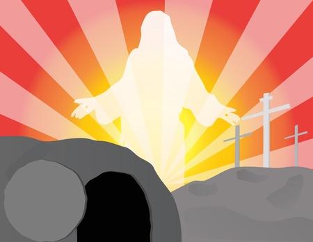 calvary: He Is Risen Illustration