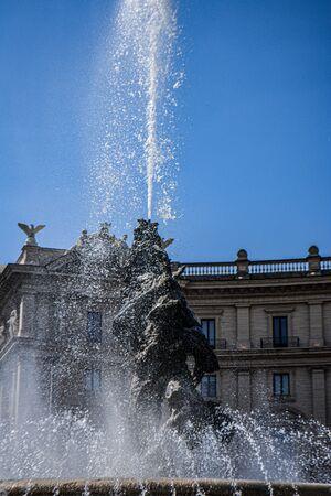 Fountain of the Naiads Piazza della Repubblica Rome Italy Stockfoto - 130681619