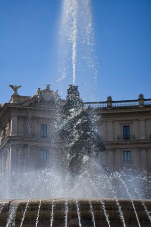 Fountain of the Naiads Piazza della Repubblica Rome Italy Stockfoto