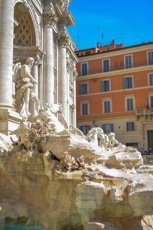 Rome, Italy. One of the most famous landmarks - Trevi Fountain (Fontana di Trevi). Stockfoto - 130681669
