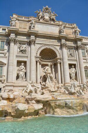 Rome, Italy. One of the most famous landmarks - Trevi Fountain (Fontana di Trevi). Stockfoto - 130681866