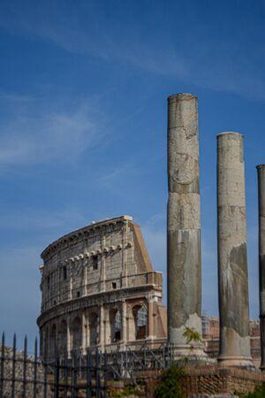 """The ancient """"Forum Romanum"""" in Rome in Italy"""