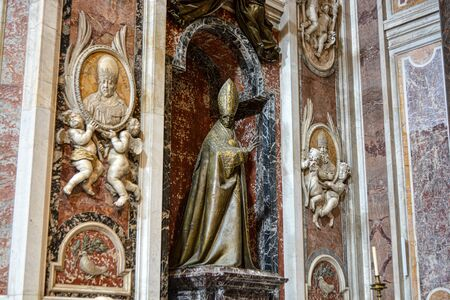 Statue at Saint Peters Basilica in Vatican City - Rome - ROME  ITALY