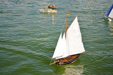 Photo of a wood replica of a sailing boat