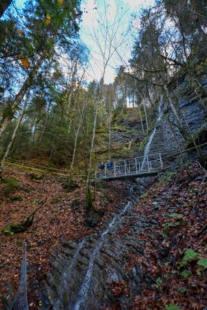 Partnachklamm in Garmisch-Partenkirchen, a canyon in germany