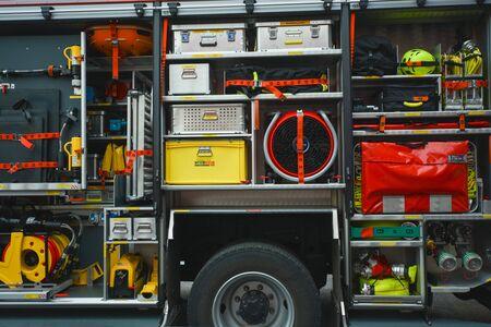 Instrumentos de los bomberos en Alemania Foto de archivo