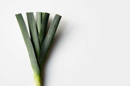 seemed fresh, green leafs on white background