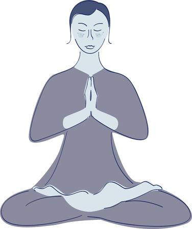 humanism: yoga woman