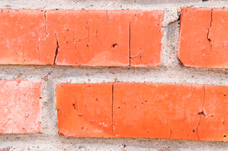 sand lime bricks: Background of old vintage brick wall, closeup.