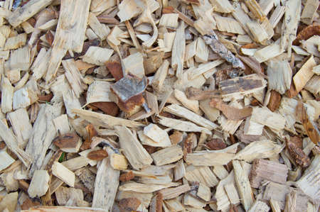 sawdust: Wood chips chips are a natural material background pattern