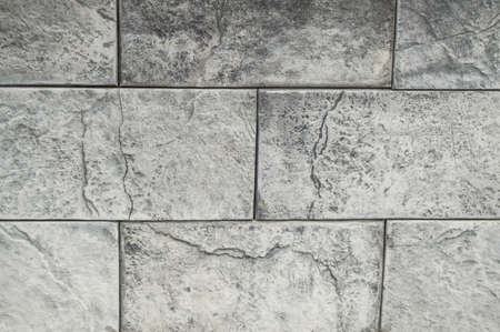 Background grey cement and concrete tiles, stone texture Imagens