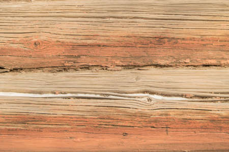 Old horizontal brown boards, old wood texture cracked, abstract grunge background, pattern. Stock Photo