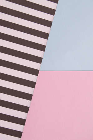 Abstract geometric background with pink, blue, black and white striped color, creative idea for designer, pattern.