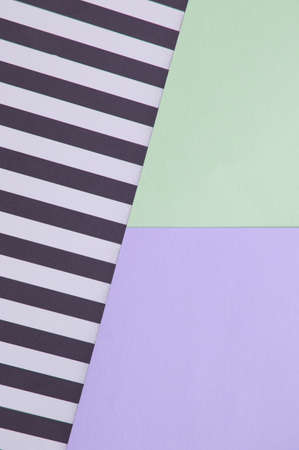 Abstract geometric background with lilac, mint green, black and white striped color, creative idea for designer, pattern.