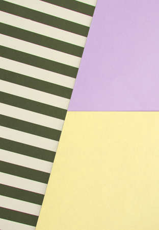 Abstract geometric background with lilac, yellow, black and white striped color, creative idea for designer, pattern.