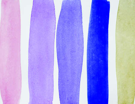 Watercolor abstract background with multicolored vertical stripes, hand drawing Reklamní fotografie