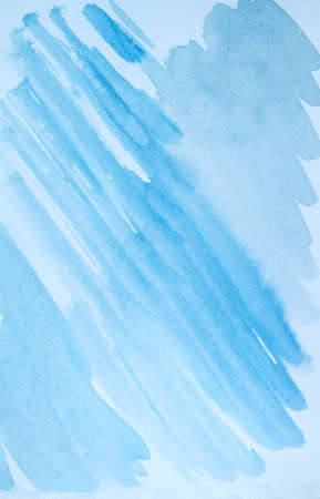Light blue abstract watercolor background, diagonal sloping lines and brushstrokes Reklamní fotografie