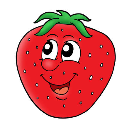 Smiling red strawberry - color illustration. Stock Illustration - 3267182