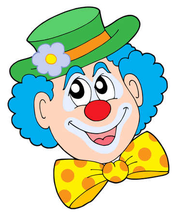 Portrait of clown - vector illustration. Stock Vector - 3295588