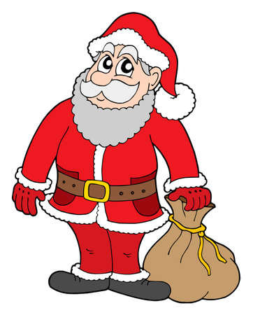 Santa Claus with gifts - vector illustration. Stock Vector - 3295623
